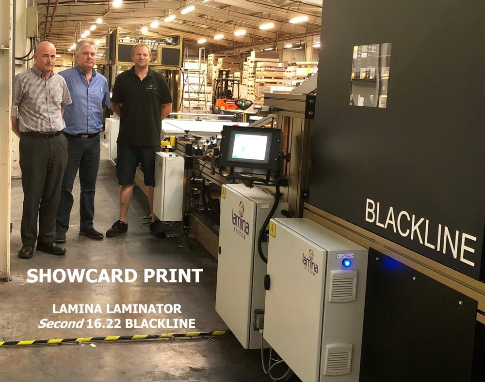LAMINA System install a second Blackline Litho Laminator at Showcard Print as part of their 2018 investment programme.