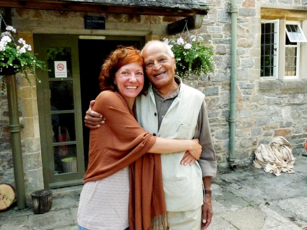 Com Satish, um grande mestre, um amigo, uma das pessoas mais belas e inspiradoras... um privilégio, uma benção.