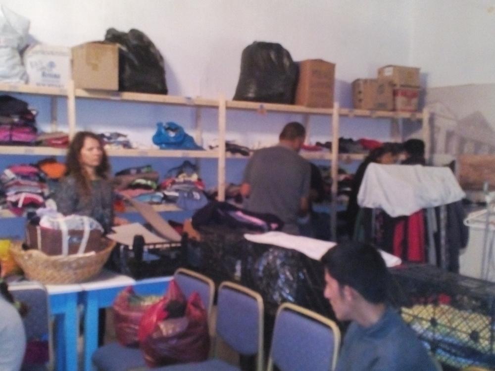 Clothing Deposit and Volunteers
