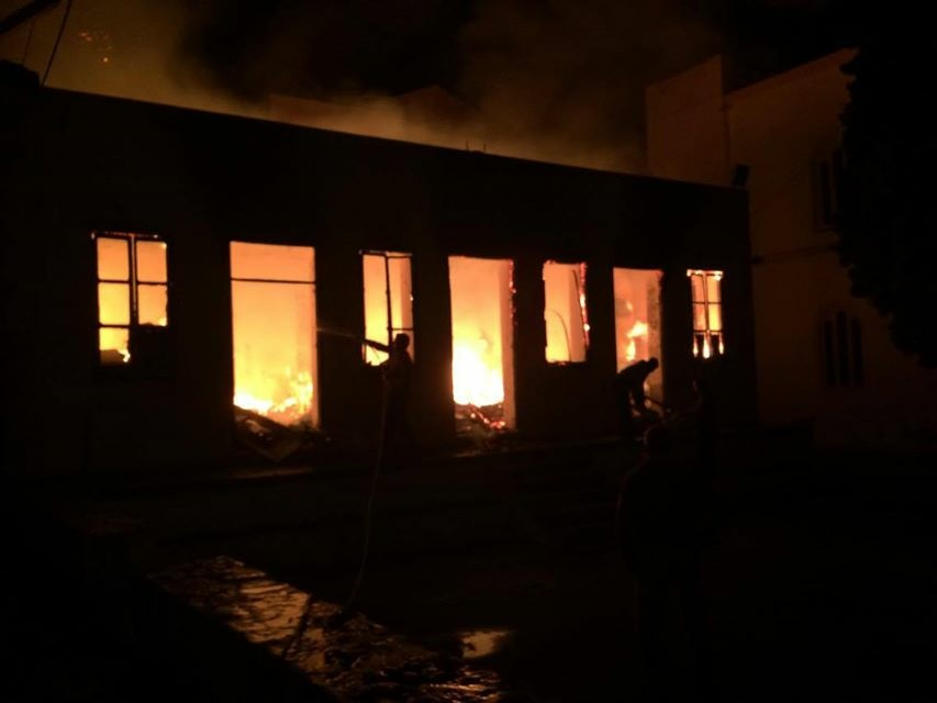 01/03 Fire breaks out at the clothing storage facility