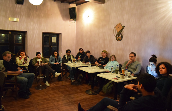 UNHCR Training at Kavos Cafe on 10/03/2016