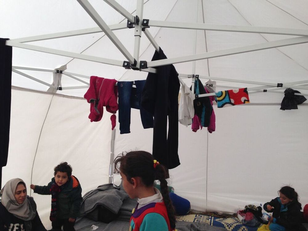 Shelter gazebo ouside the Police Station