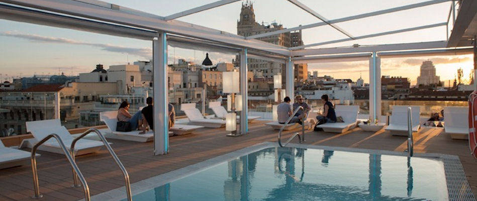 Best Bars Madrid ~ Oscar's Terrace / Photo: oscar.room-matehotels.com