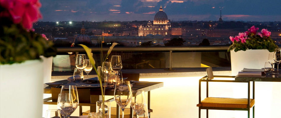 Best Rooftop Bars Rome ~ La Terrasse at Sofitel ~ Photo: Facebook SofitelRomeVillaBorghese