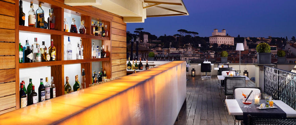 Best Bars Rome ~ The First Luxury Art Hotel Roof Garden / Photo: thefirsthotel.com