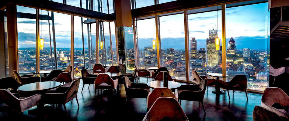 Best Bars London ~ Aqua Shard / Photo: aquashard.co.uk