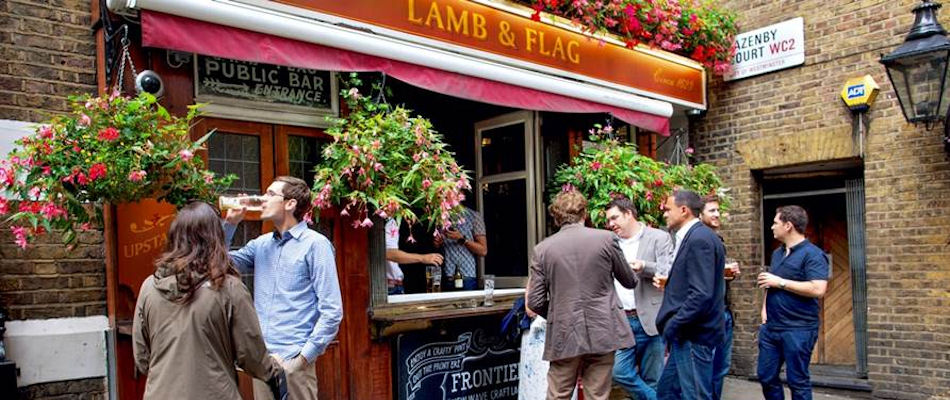 Best Pubs London ~ Lamb and Flag / Photo: lambandflagcoventgarden.co.uk