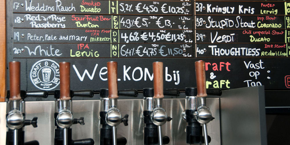 Best Bars Amsterdam ~ Craft & Draft / Photo: craftdraft.nl
