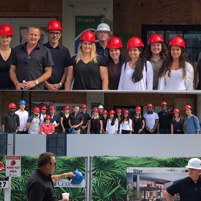 Thank you @choefflevyfischman @builtbycoastal for another great site visit @27starisland #arcplusyou🙏 @fiuarchitecture #poweredbyprocore