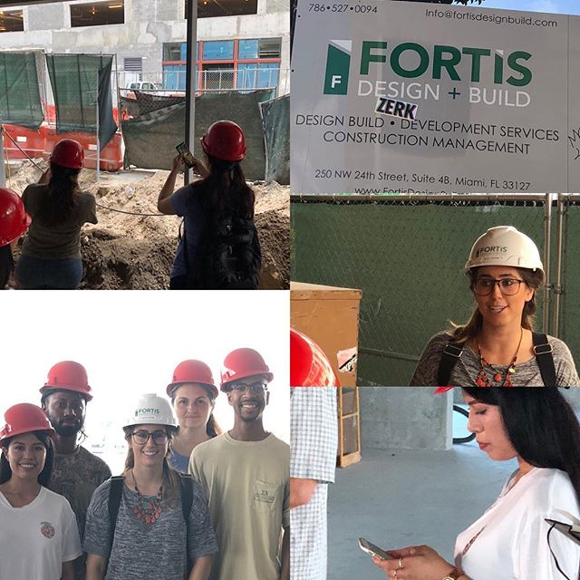 🙏Thank you so much @fortisdesignbuild  for an incredible site visit. #arcplusbuildgreen🌴 @fiuarchitecture @fiucarta #nicoleknowledge #acrplusyou 👍 @procoreorg #poweredbyprocore