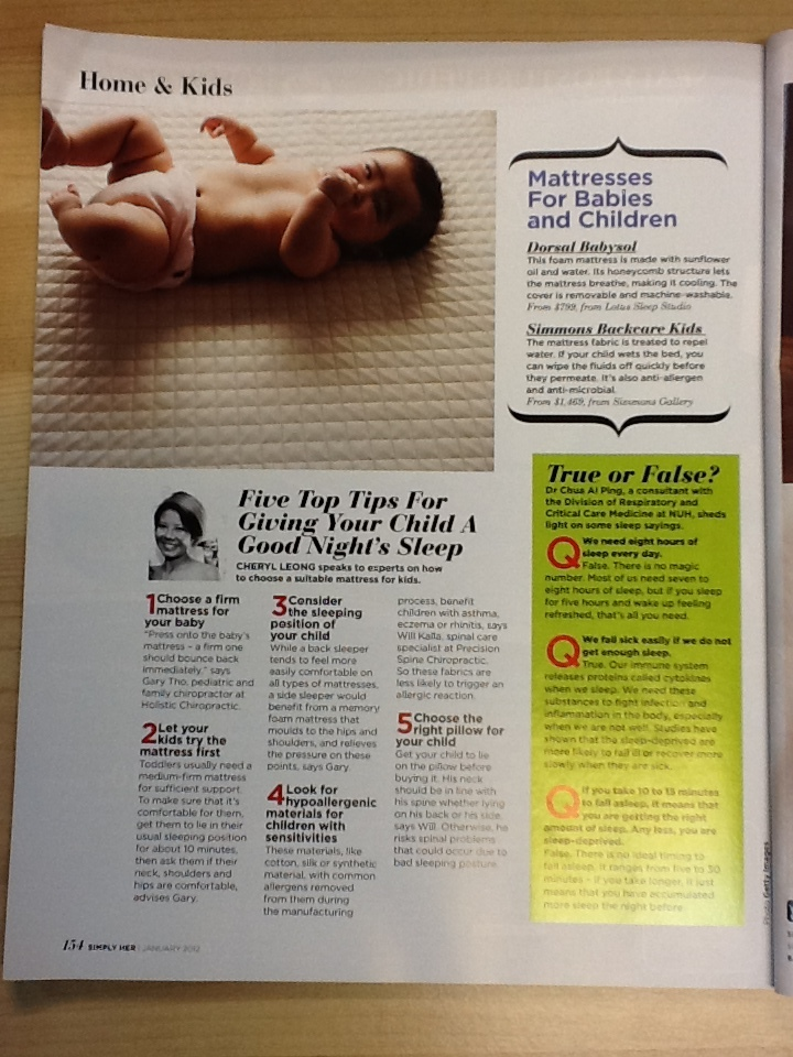 simply her magazine Singapore health tips