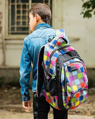 Backpacks should not be used with one strap or hang lower than the arch in your back.