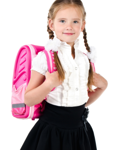 A propper fitted backpack will minimise the toll of carrying heavy books and laptops over the 13 years of schooling.