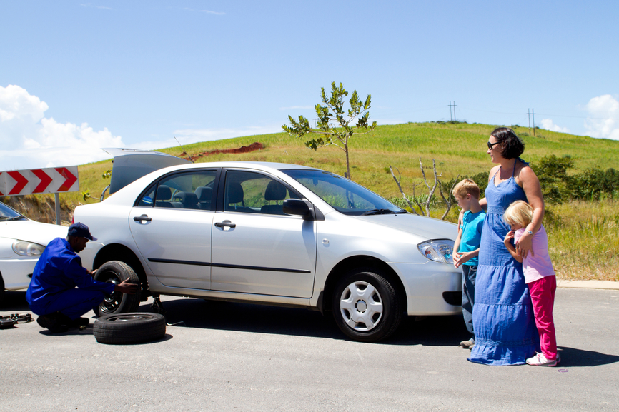What would you do if your car tire was punctured?