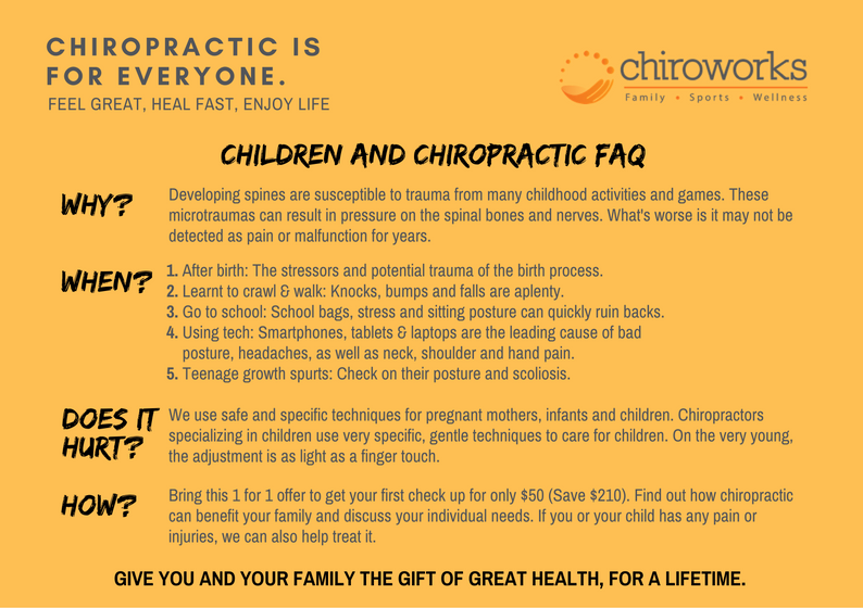 Chiropractic Singapore for babies, toddlers and children with children's chiropractor