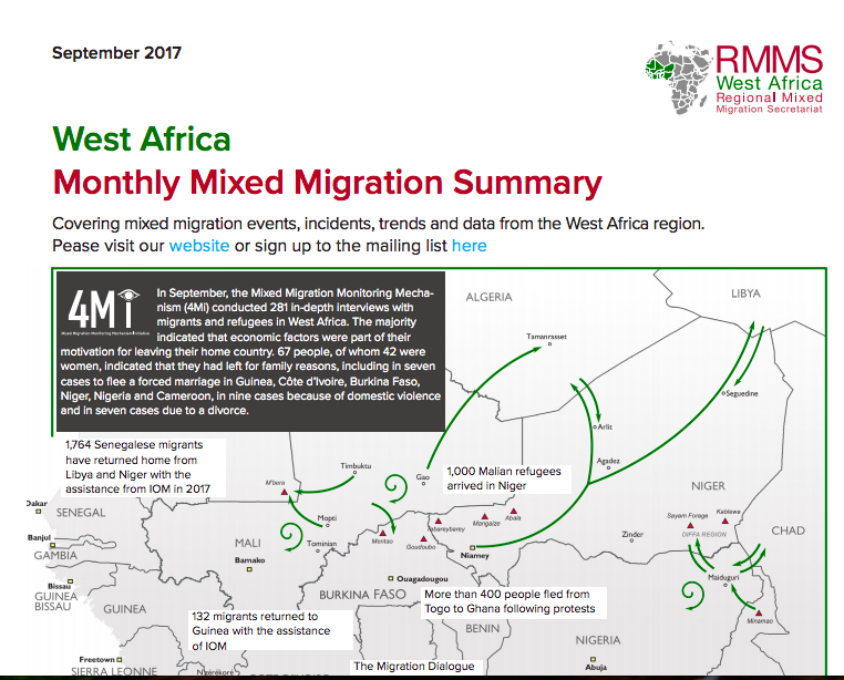 Lake Chad Basin Report Featured in Regional Mixed Migration Secretariat (RMMS), West Africa -