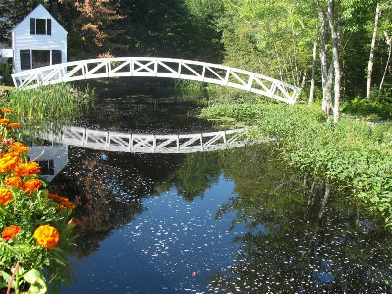 Footbridge at the Selectmen's Building in Somesville