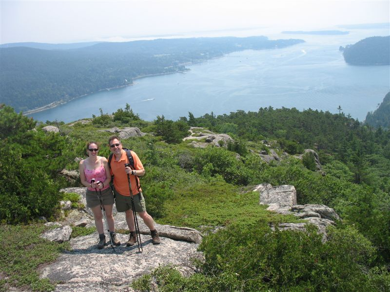 Hiking over Somes Sound