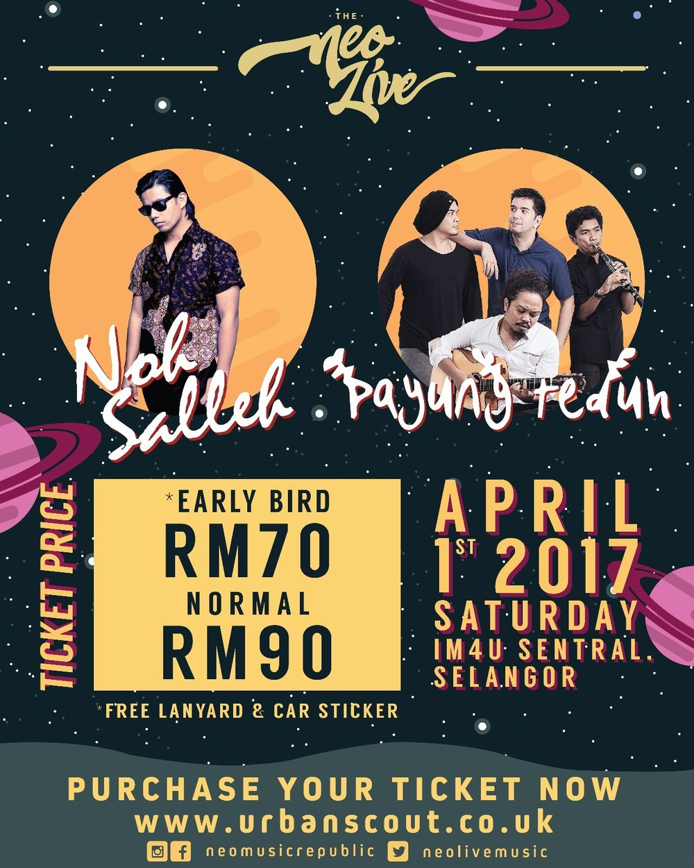 Our Upcoming Neo Live with Noh Salleh & Payung Teduh