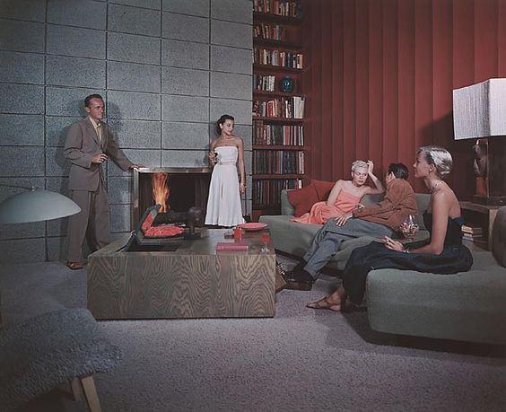 Shulman Julius (1910-2009) [Spencer Residence, 1950. Santa Monica, CA. Richard Spencer, architect]. Chromogenic print.