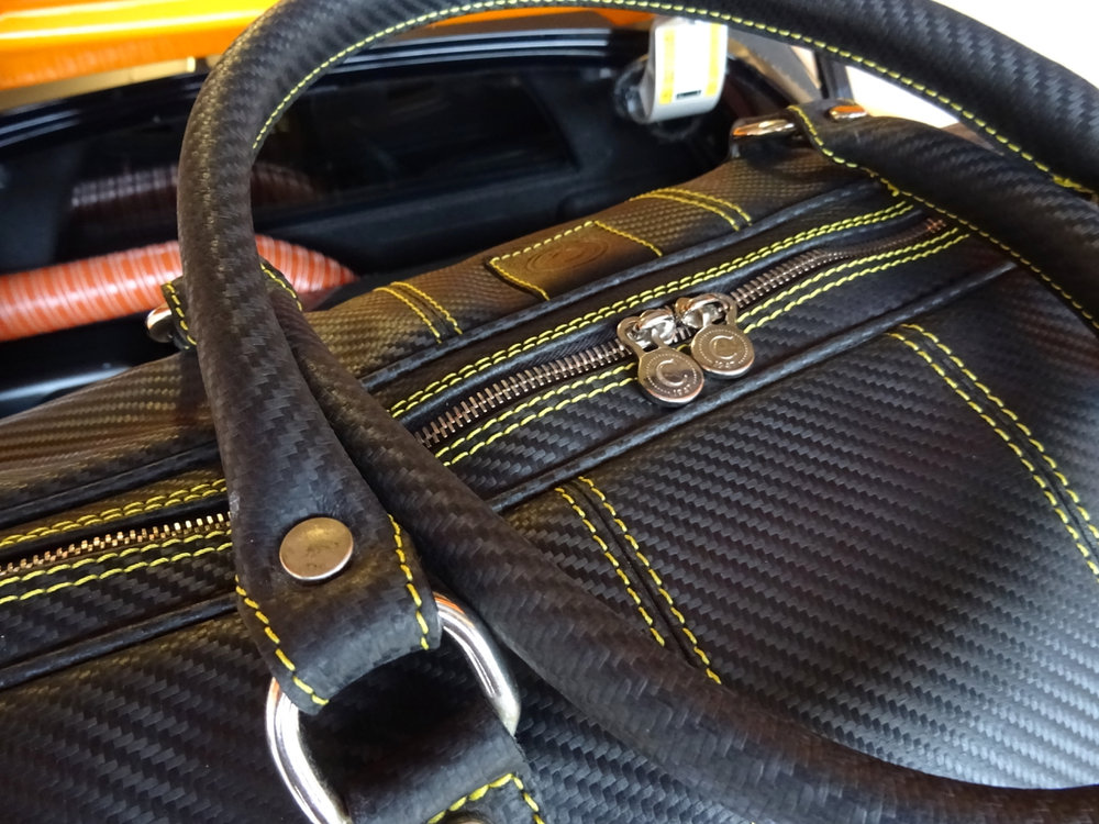 Carbon Fiber Leather Driver's Bag