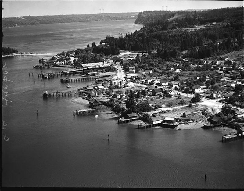 Gig Harbor's Working Waterfront in 1946 (photo courtesey of MOHAI)