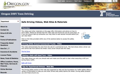 Site search dmv teen driving 14
