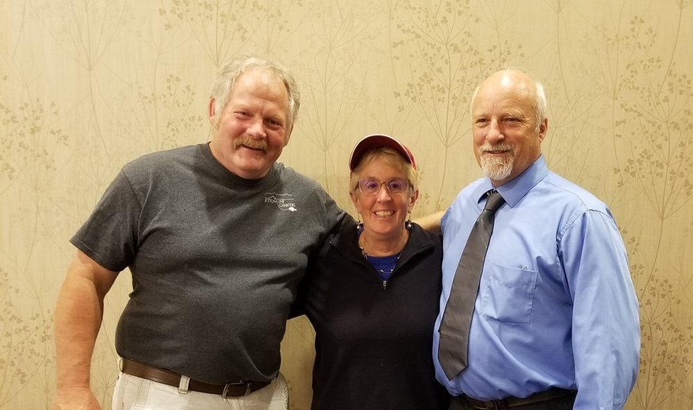 ADTSEA 2018 - WDTSEA board members President Kevin Kirby and Pres. elect Karen Sorenson meet with Minnesota's Mark Lee, who is ADTSEA's Pres. - Elect.