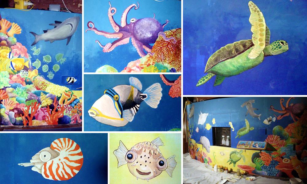 Bristol Zoo Aquarium Coral Reef Mural