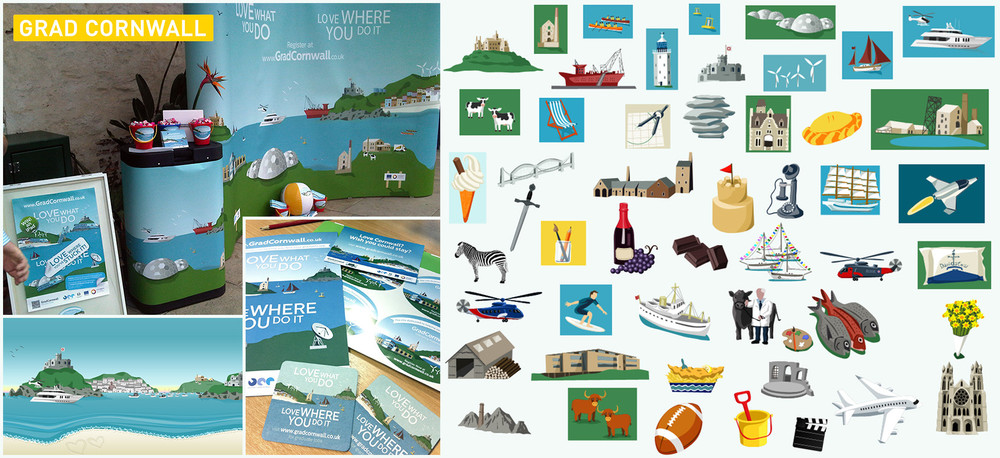 Grad Cornwall Illustrations