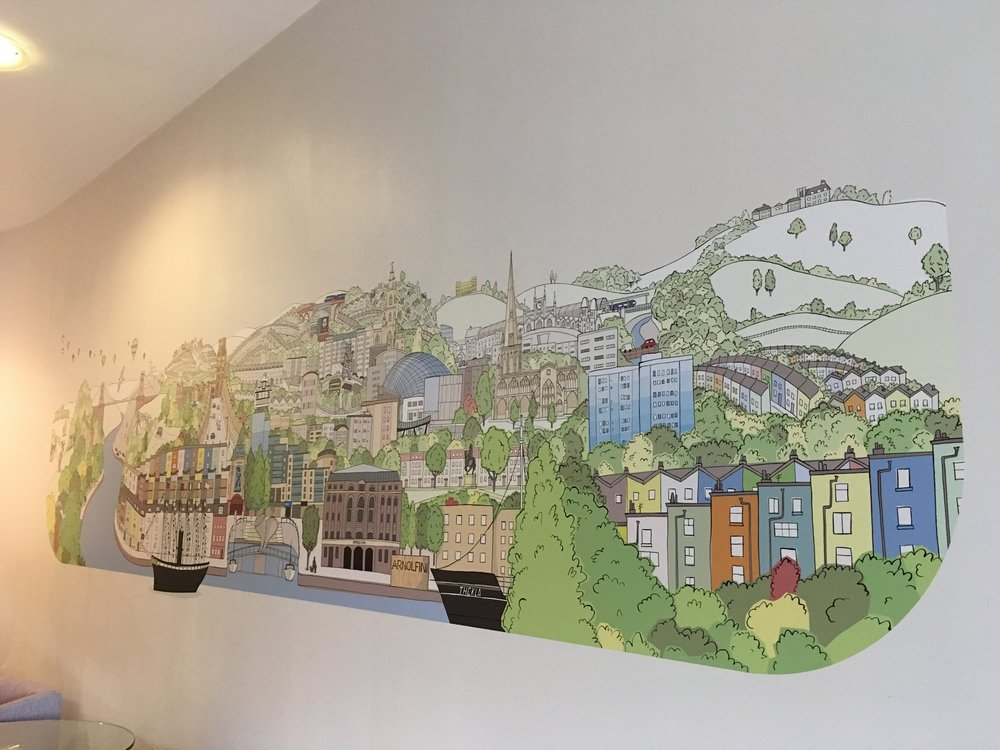 My Bristol mural by Emily Trotter
