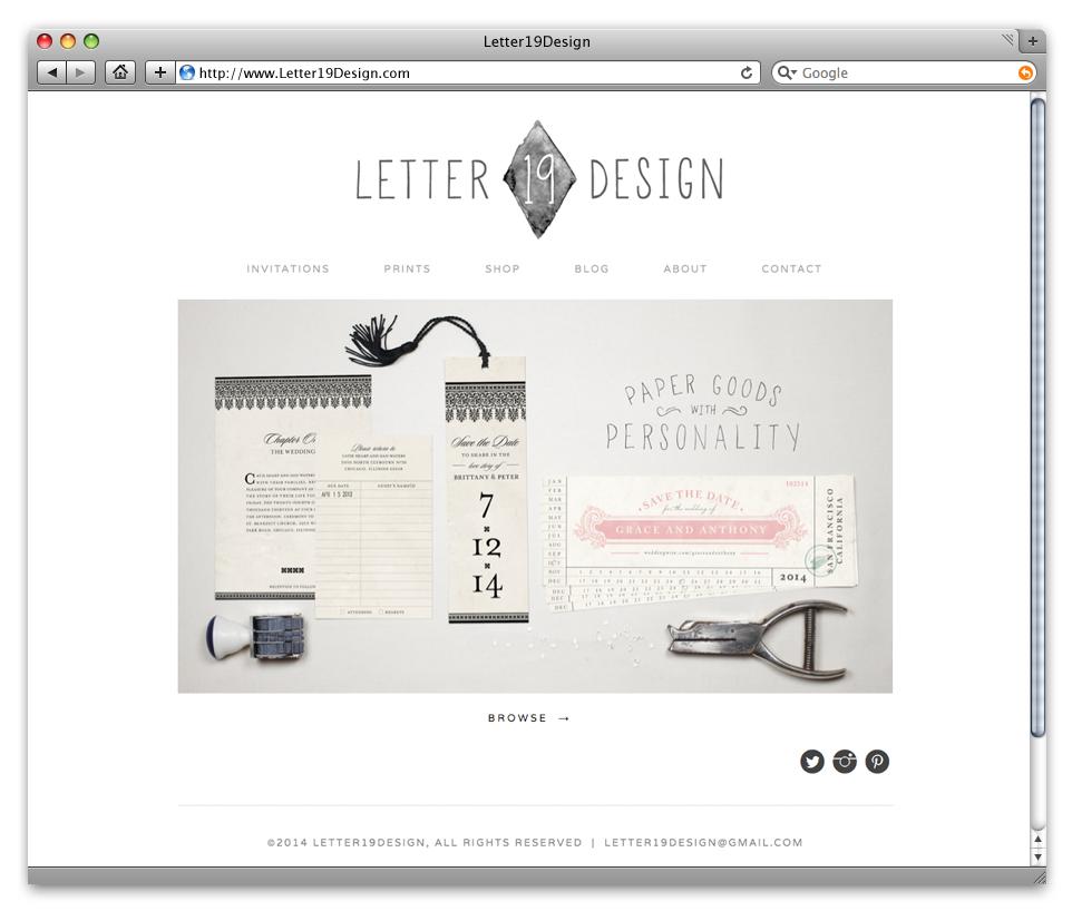 Letter19Design website