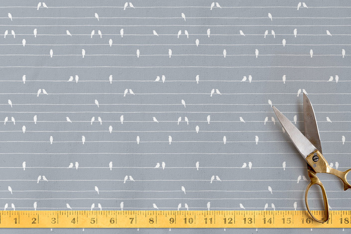 Minted and Letter19Design 'Birds on Wires' fabric