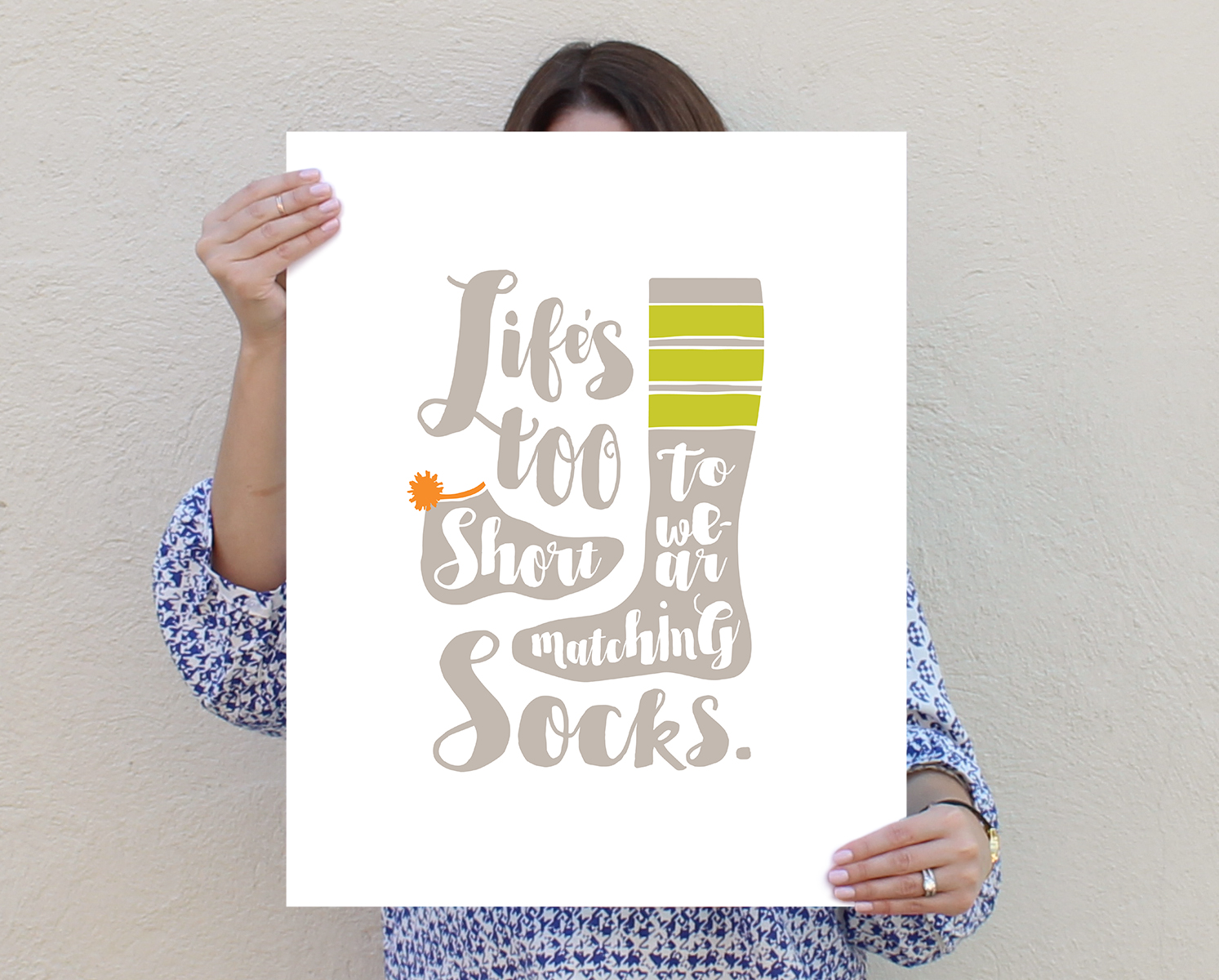 Life's too short to wear matching socks.
