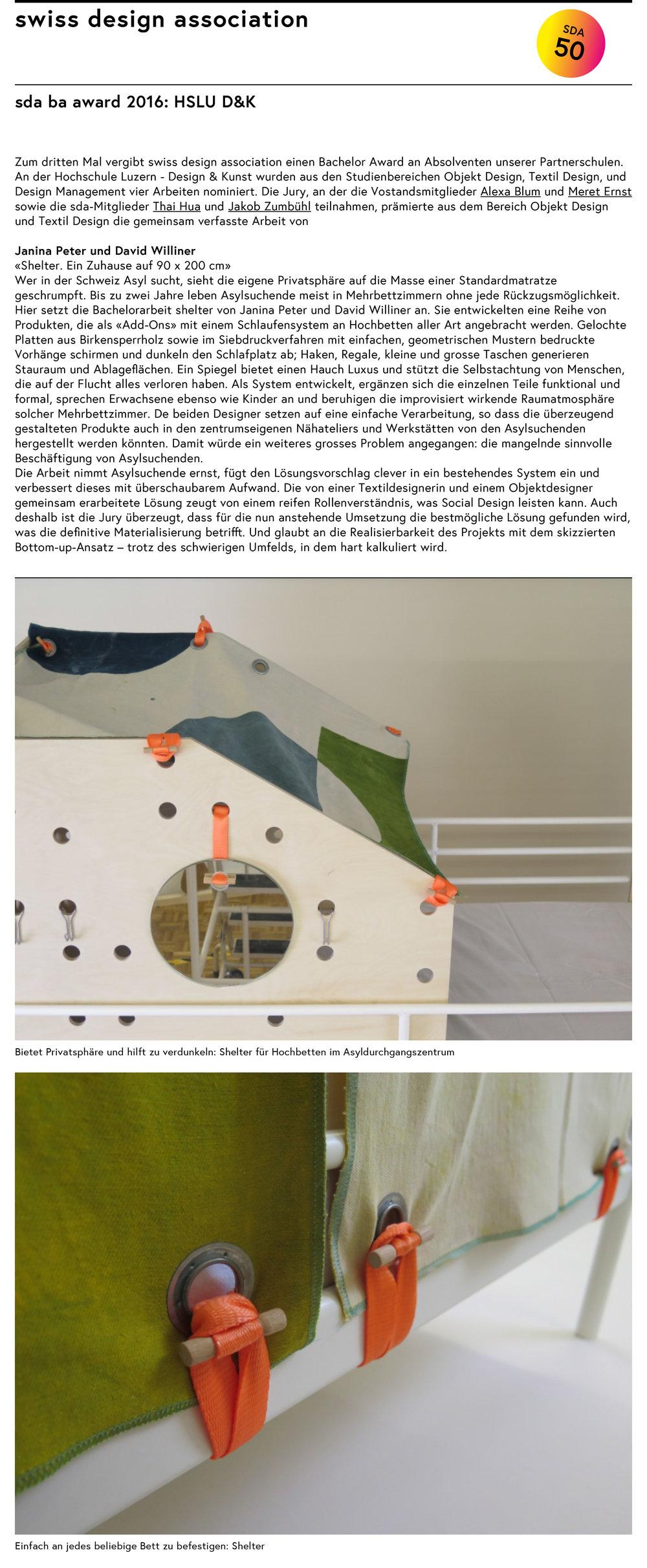 Ba Design Award Winner 2016 Swiss Design Associaton Social Design