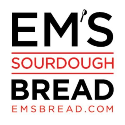 INSTAGRAM: EMSSOURDOUGHBREAD. FACEBOOK:EM'S SOURDOUGH BREAD EMAIL: EM@EMSBREAD.COM