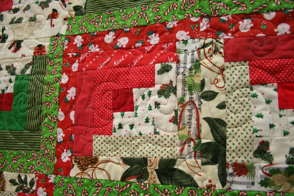 Log Cabin Christmas Quilt.Christmas Log Cabin Quilt Made Just For U