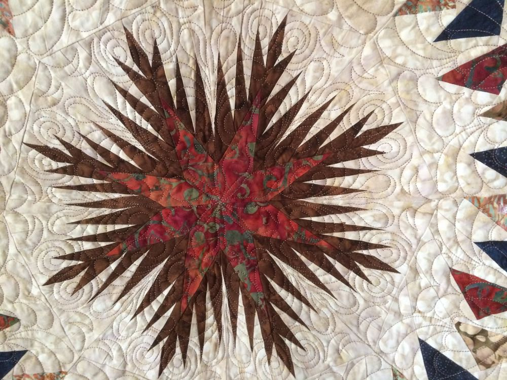 This is the center star of Diane's quilt and wall hanging.