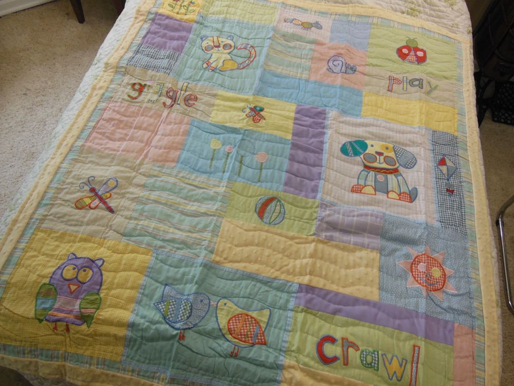 Play and Giggle Baby Quilt and Throw works well as both a quilt and wall hanging.layP
