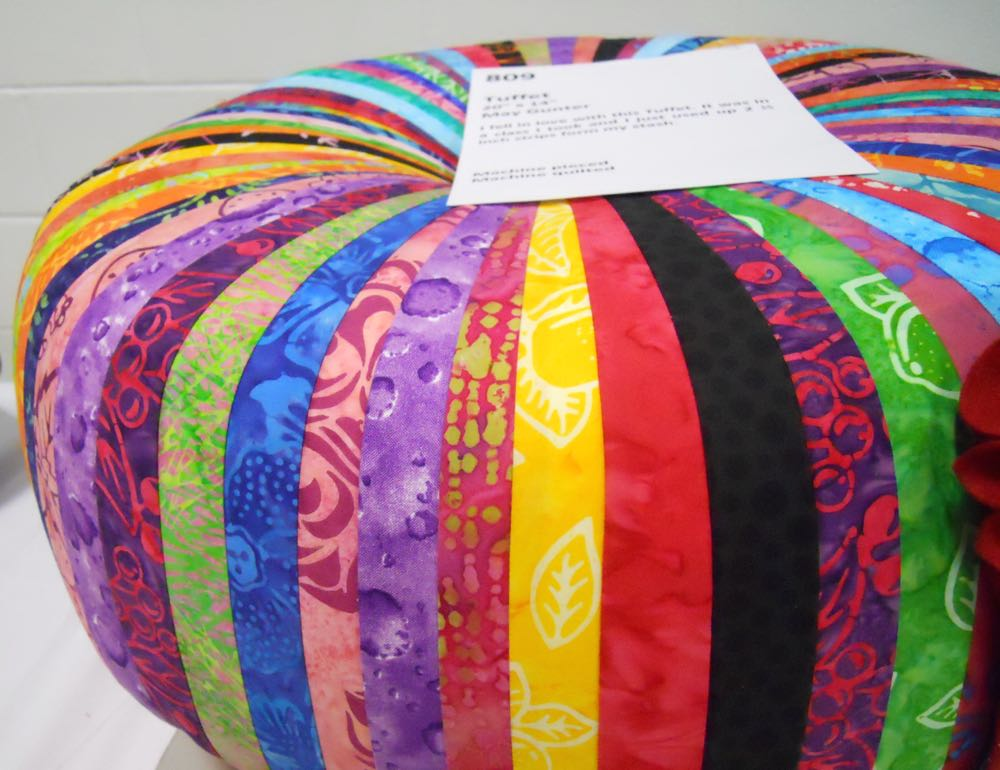 A handmade tuffet from the 2015 Piece and Plenty Quilt Guild bi-annual show in Rolla, Mo.