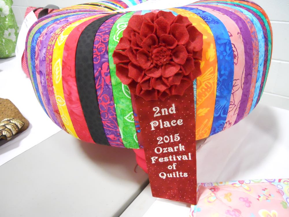 Second place winner and I do so love those ribbons with a floral theme.