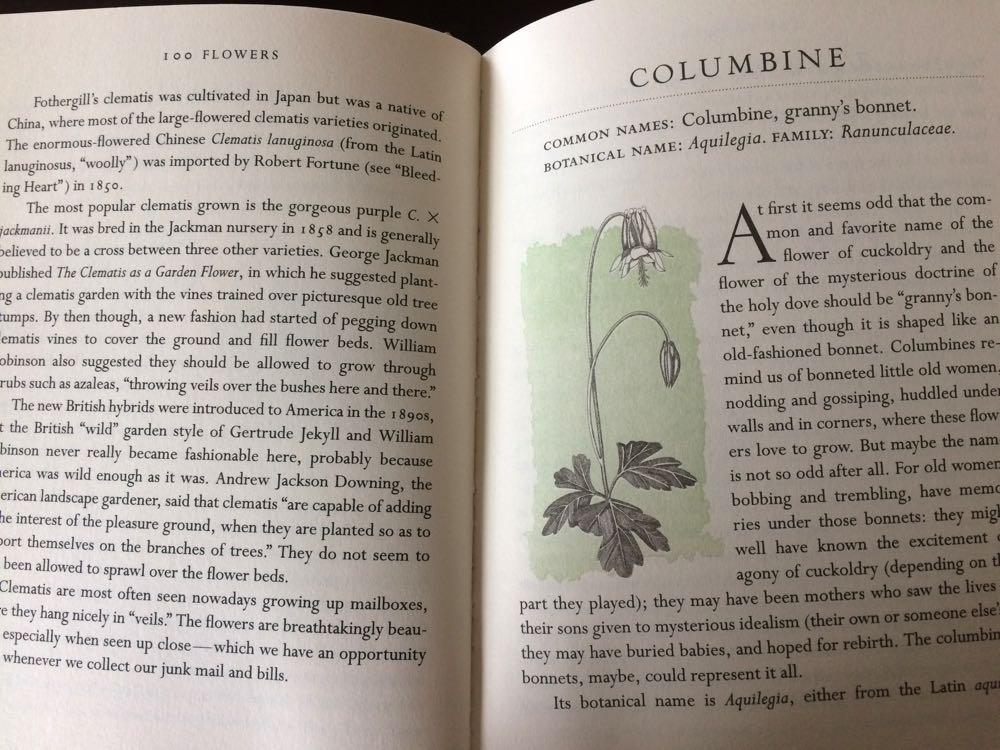 Each flower description includes a lovely illustration.