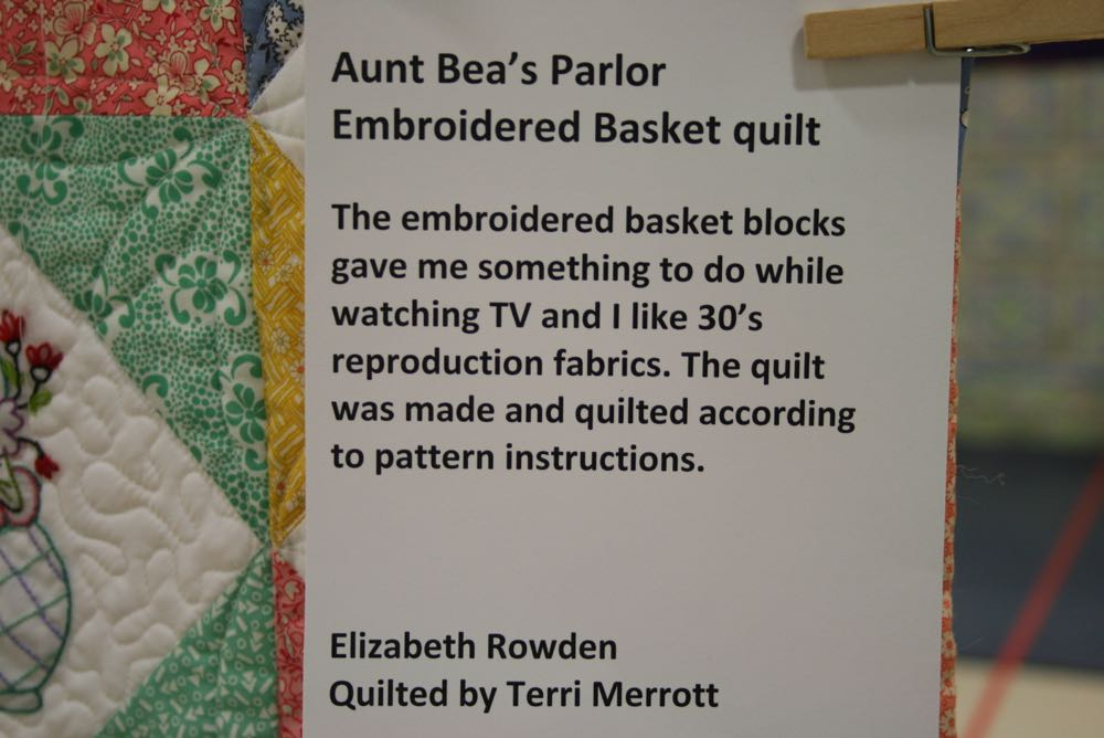 Each handmade quilt has it's own story, this is Embroidered Baskets Handmade quilt story.