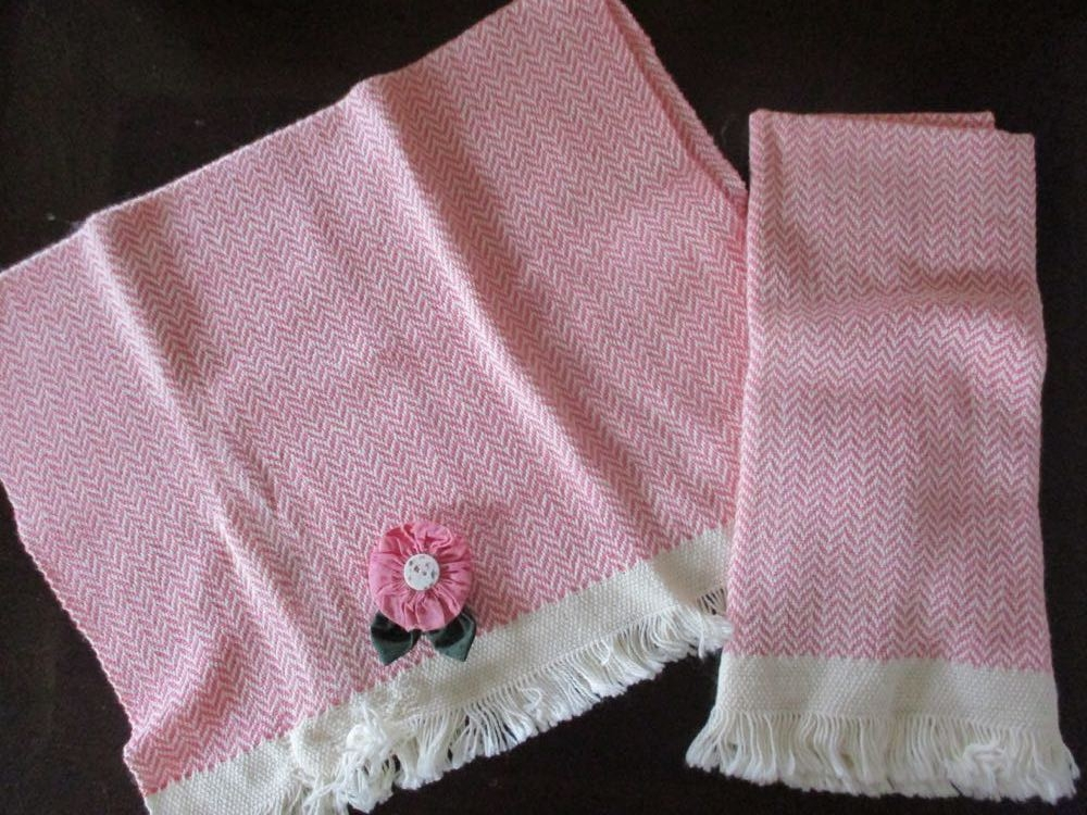 These are the last two hand woven kitchen towels I have from a lovely handmade collection.