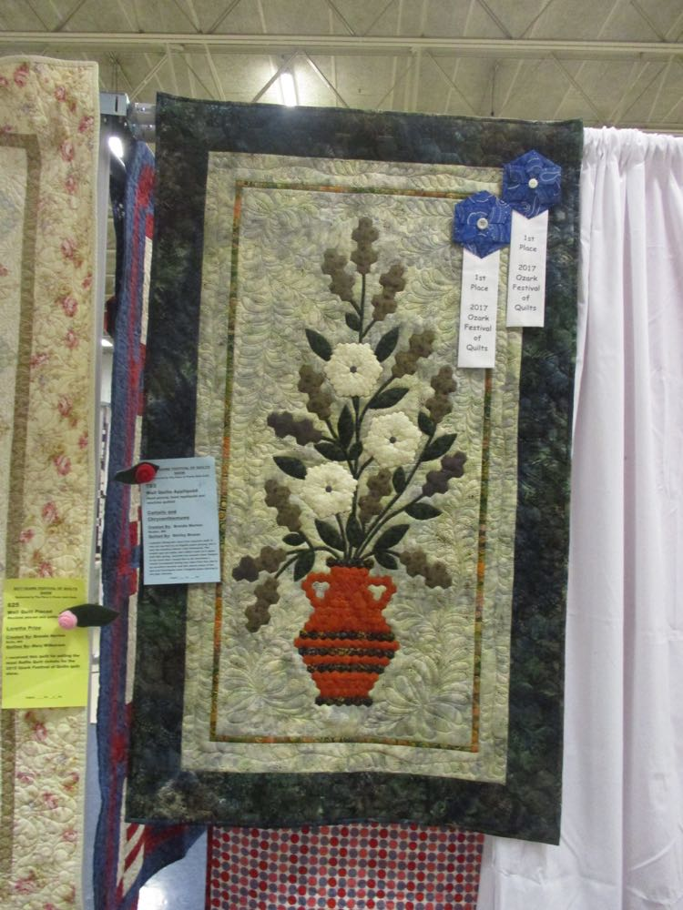 This award-winning quilted wall hanging was at Piece and Plenty Quilt Guild's 2017 show in Rolla.