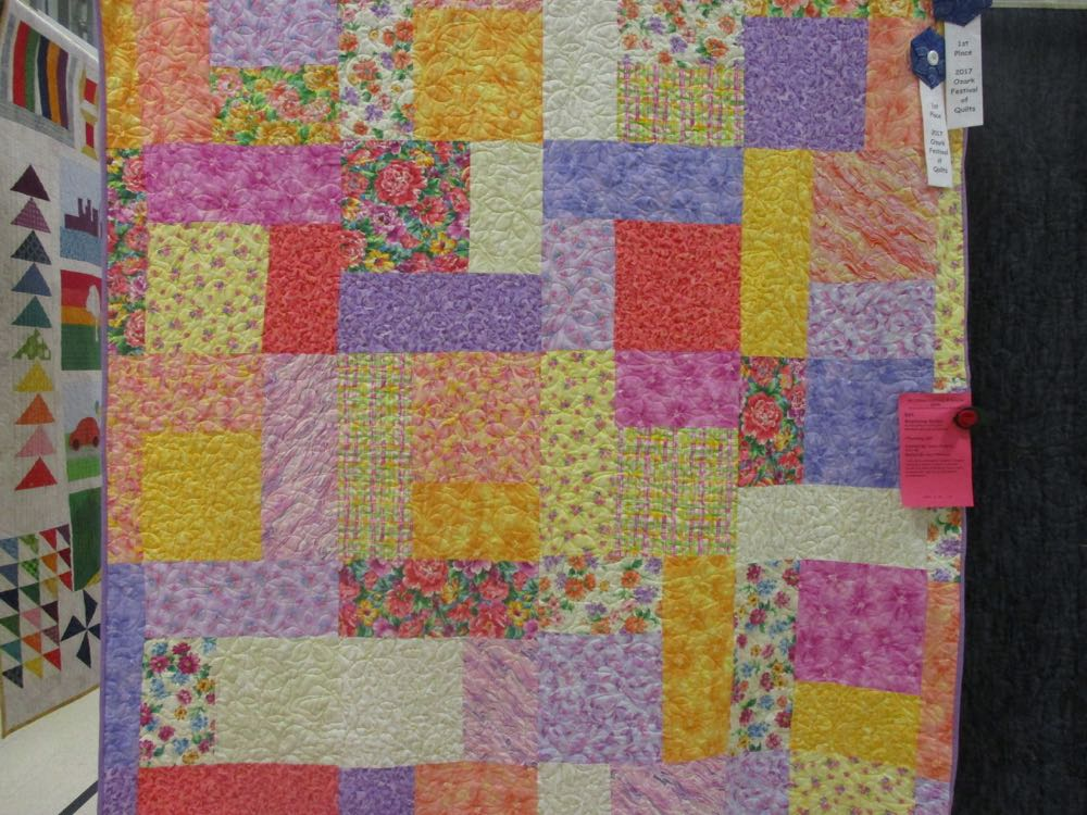 This is the winning beginners quilt at Piece and Plenty's 2017 Quilt Show in Rolla, Mo.