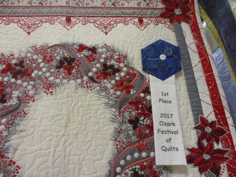 This won first place in the 2017 Piece and Plenty Quilt Guild Quilt Show in Rolla, Missouri.