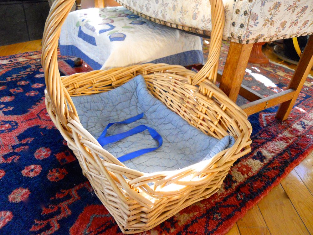 Never fear, Shirley Honey, there's another empty basket nearby for your comfy napping spot.
