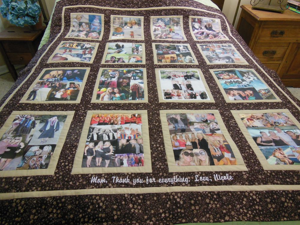 Printed photo blocks also nicely duplicate color photos and artwork for custom quilts.