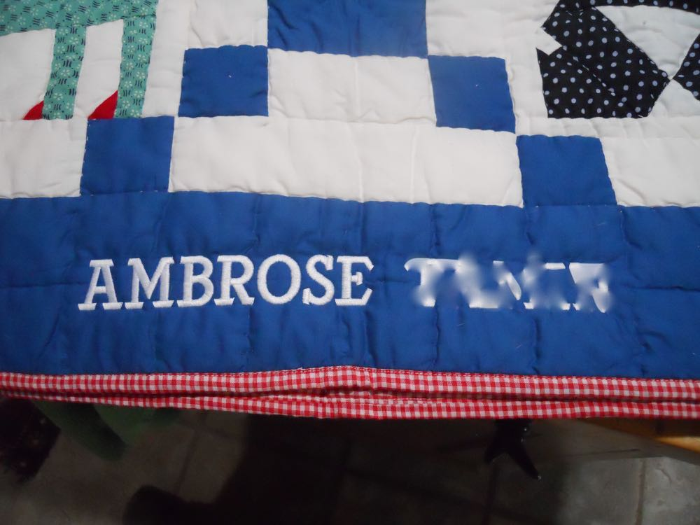 One of the ways to personalize a baby gift is to have a baby quilt custom embroidered.